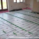 How does the underfloor heating