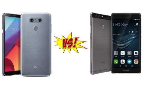 Comparison Huawei P10 vs LG G6
